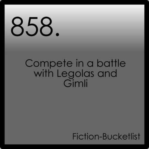 Compete? Change that to fight for your life while counting how many orcs you've killed. LOTR