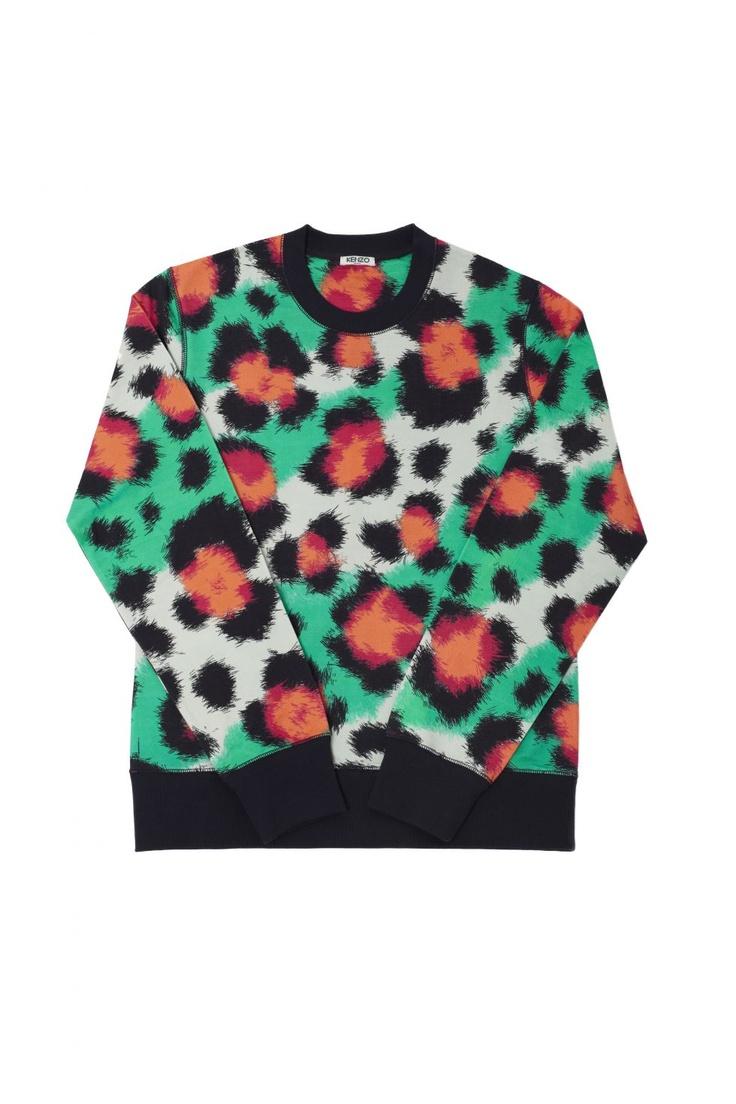 Kenzo Leopard print sweatshirt - Kenzo Tops and Shirts Women - Kenzo E-shop