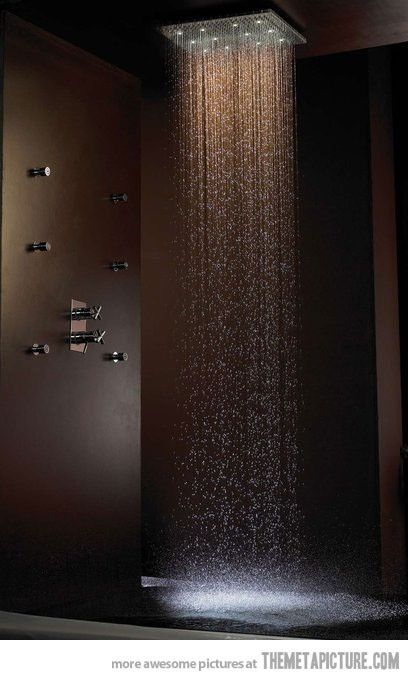"This shower gives the term ""Make it rain"" a new meaning. www.pughproperties.com"