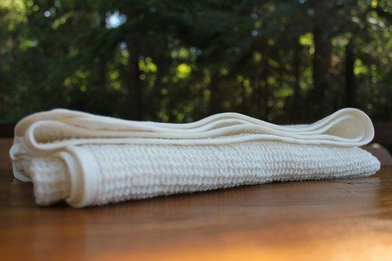 Linen Blanket - Natural linen, Linen Blanket, Throw, Waffle linen blanket