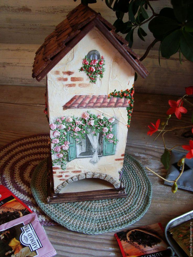 """Купить Чайный домик """"Чарующий Прованс"""" - комбинированный, для чая, пакетированный чай, чай в пакетиках, прованс"""