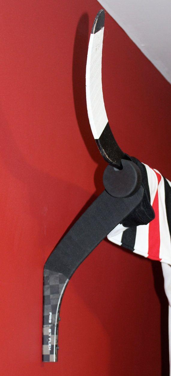Hockey Valance Holder Jersey Display or Stick by HockeyStickStuff