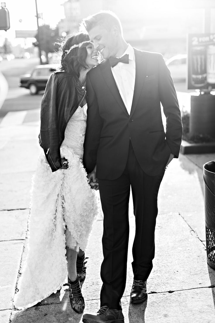 couple in love, bride and groom photoshoot, edgy wedding style, wedding hairpiece, stylish bride shoes, fashion inspired style, beautiful shoot, stunning couple, black and white photography, Jana Williams photography http://loveluxelife.com/jana-williams-photography-workshop/