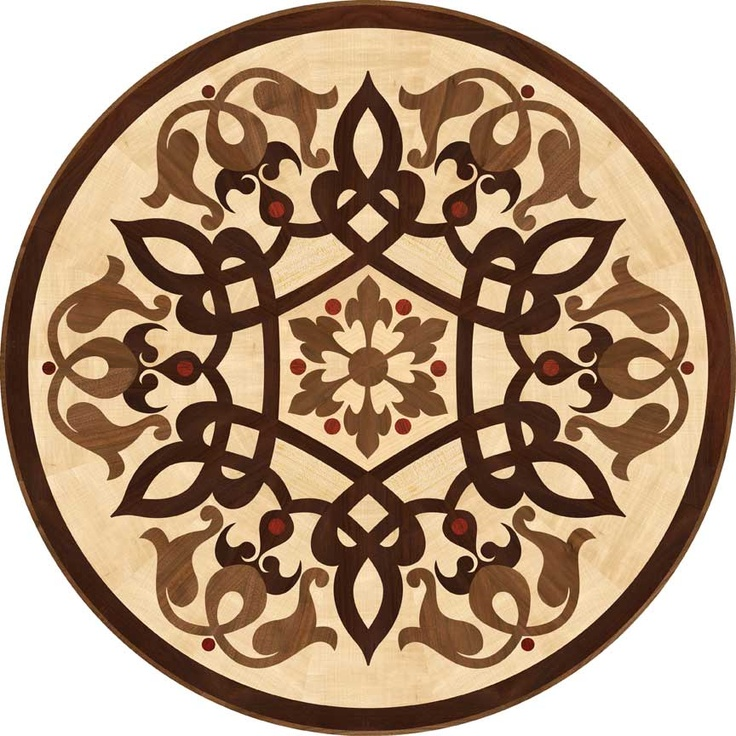 Chateau--Wood medallion.