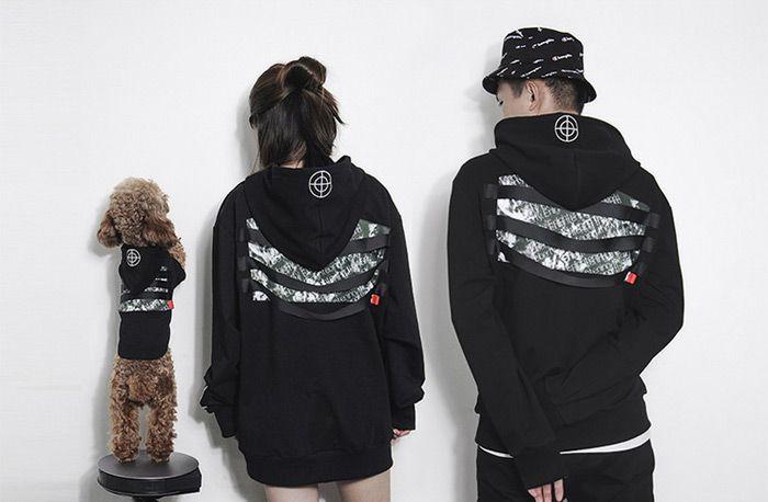 韓国風 Closk Enemi レディース メンズ服 帽子付き 小型犬 中型犬 大型犬 おしゃれ 犬服 ブラック ペット 洋服 Clothes Fashion North Face Backpack