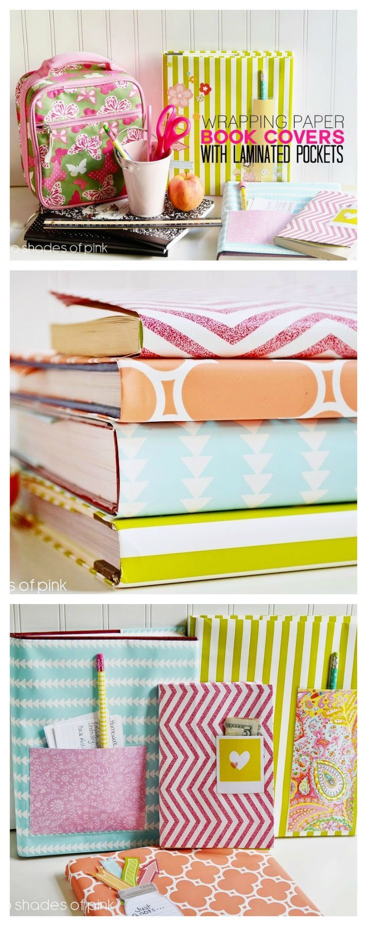 DIY Wrapping Paper Book Covers