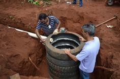 Manual ensina a fazer fossa séptica sustentável com pneus reaproveitados