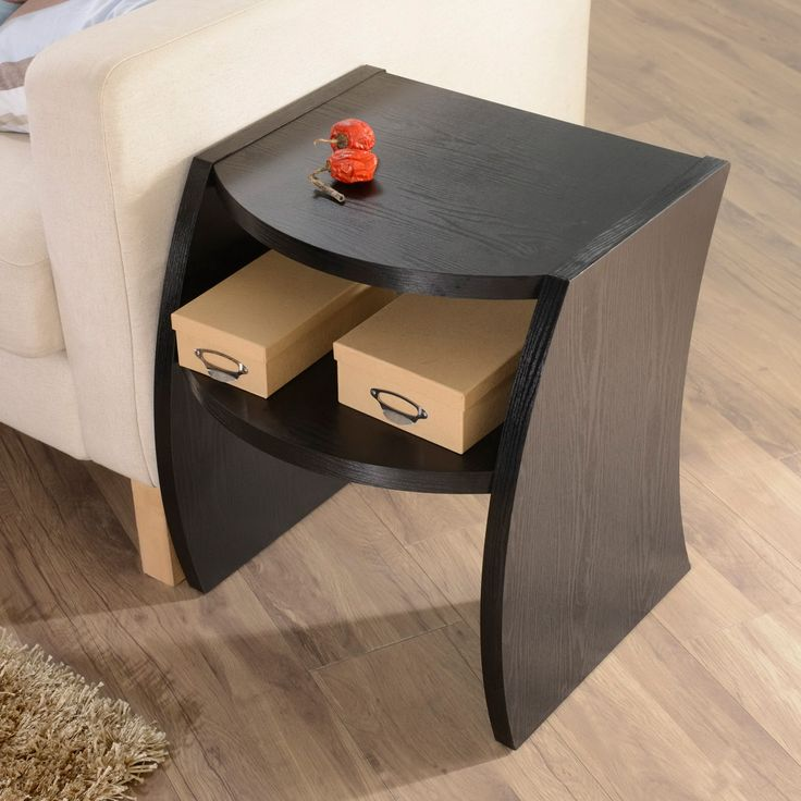 Add Modern Curves To Your Home Décor With The Drewland Table. With Chic  Black Table