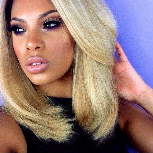 Awesome 116 Best Black Girls With Blonde Hair Images On Pinterest Short Hairstyles For Black Women Fulllsitofus
