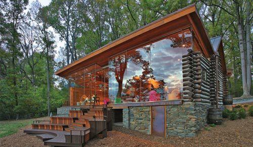 Hopkins & Porter | Antique Cabin Addition | Renovation | Potomac MD