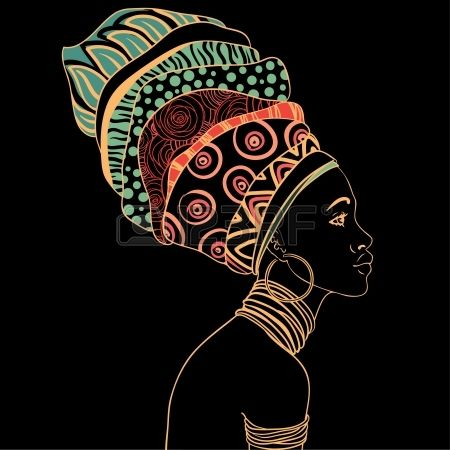 Portrait Of Beautiful African Woman With Earring Royalty Free Cliparts, Vectors, And Stock Illustration. Image 24583855.