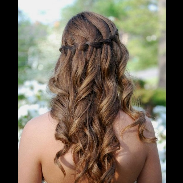Waterfall Braid With Curls Homecoming Pinterest