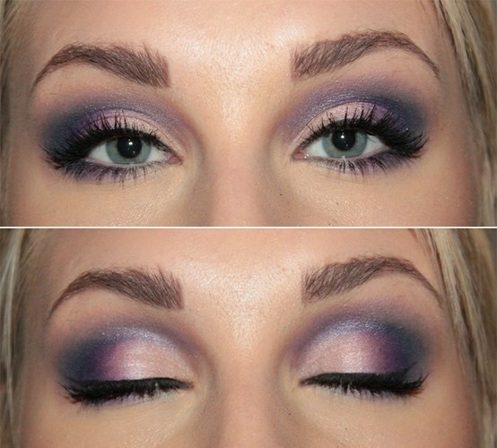 Blue Eyes Makeup #Purple #Eyeshadow #Love | Night To Remember. | Pinterest | Thin Hair Purple ...