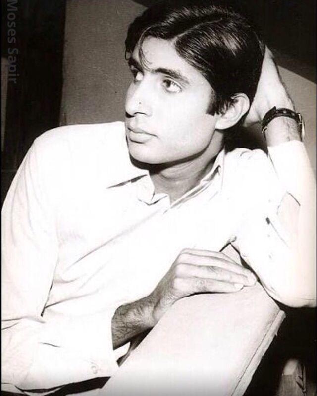 A young  and dashing, Amitabh Bachchan.