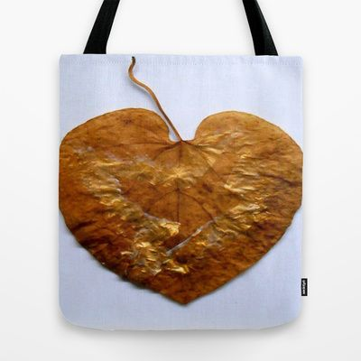ThePeaceBombs - Natural Heart Tote Bag by ThePeaceBomb - $22.00 #thepeacebomb #totebage #madeintheusa #love #words #peace #animal #leaf #autumn #nature