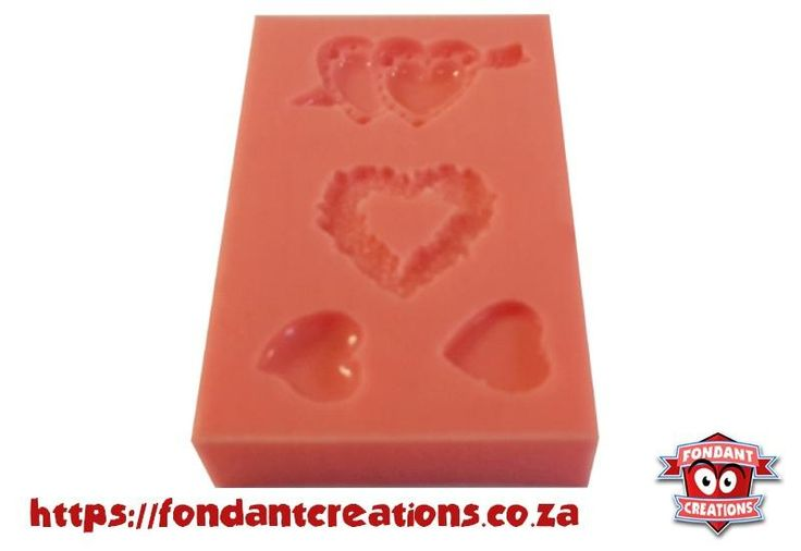 Small Valentines Hearts Set Mould