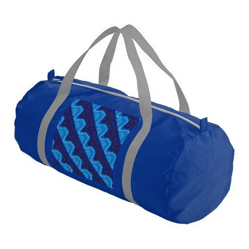 Blue Gym Bag With Original Art Graphic by DinaPetiteOriginal http://www.uksportsoutdoors.com/product/rdx-mma-neoprene-sweat-sauna-suit-shirt-rash-weight-loss-slimmimg-fitness-gym-exercise-training/