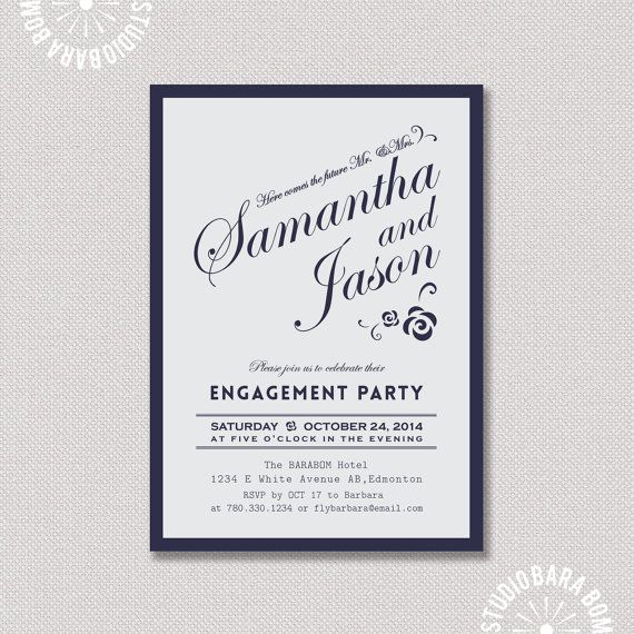 20 best Engagement party images on Pinterest Engagement parties - engagement party invites templates