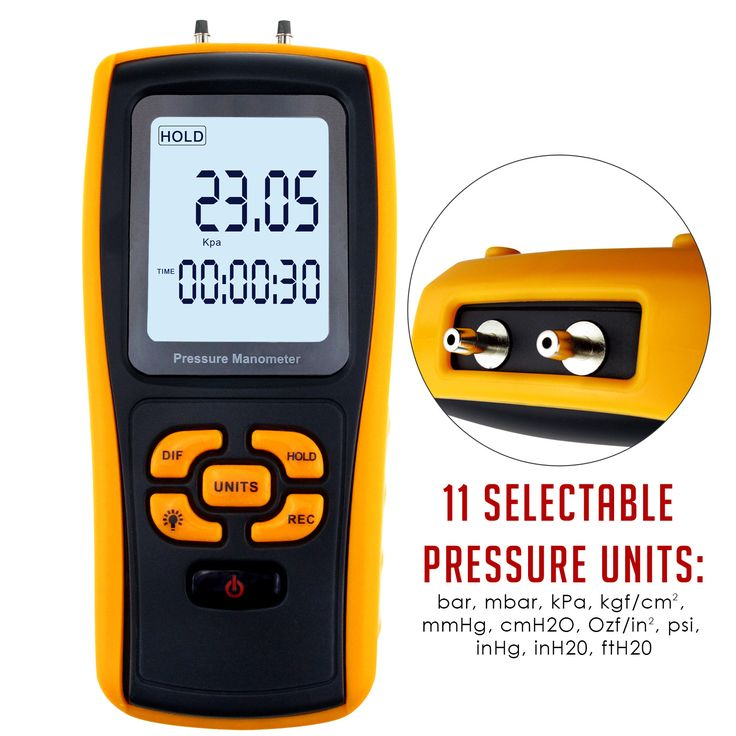 MAN-37 Instrument Digital USB Pressure Manometer Differential Pressure Gauge