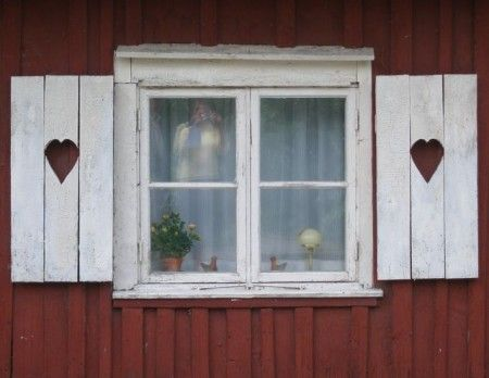 Swedish Windows With Heart Shutters In 2019 Swedish