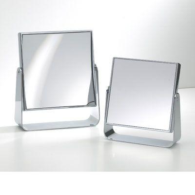 Spejl til bord forkromet med 5 X forstørrelse
