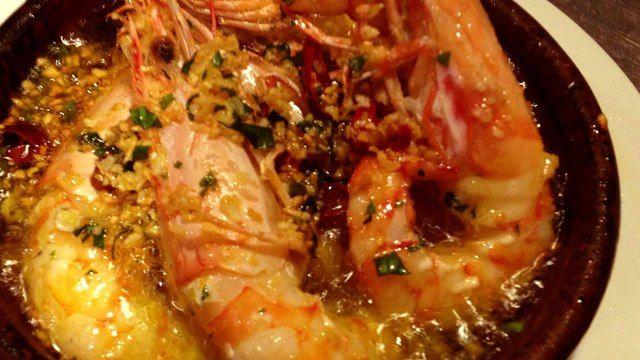 サウダージ - 料理写真:車海老をアヒージョに!