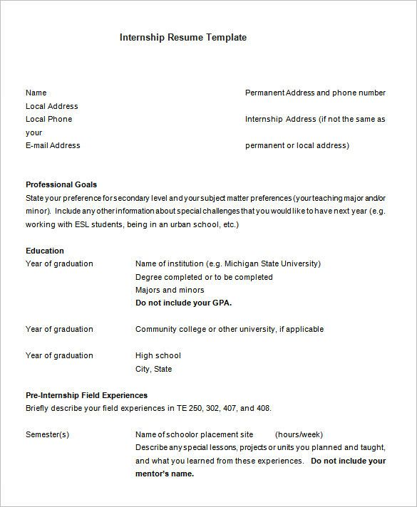 wallpaper magazine internship internship resume template ...