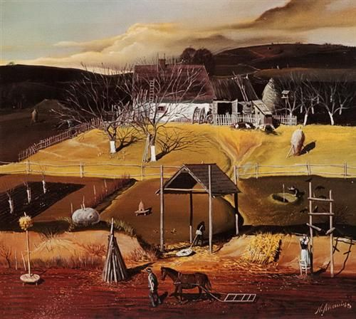 Paysage rustique - Nicolae Maniu