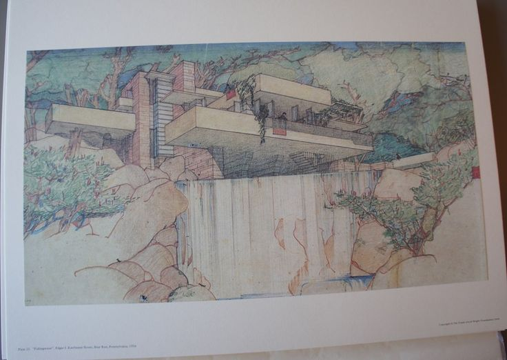 Falling Water, from the Selected Drawings of Frank Lloyd Wright Portfolio