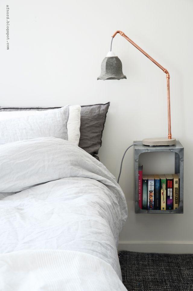 Mormorsglamour- pyssel och inredning: DIY concrete and copper lamp