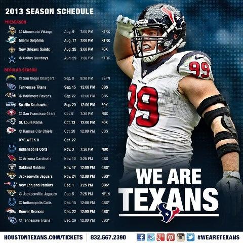 Houston Texans Schedule