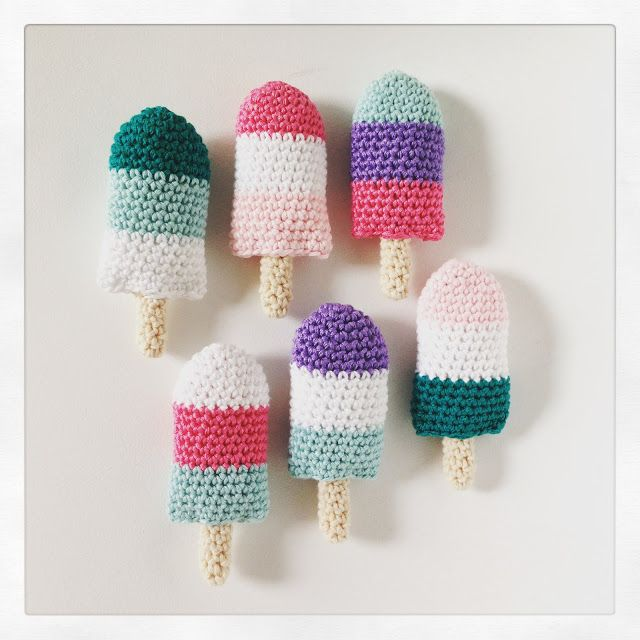 Bees and Appletrees (BLOG): ijslolly-slinger haakpatroon / popsicle-bunting crochetpattern