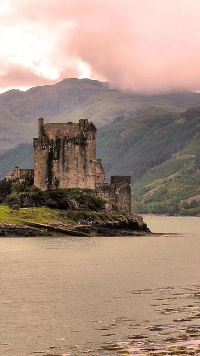 The Eilean Donan Castle Ruin - Scotland - At the confluence of Loch Duich, Loch Long and Loch Alsh.