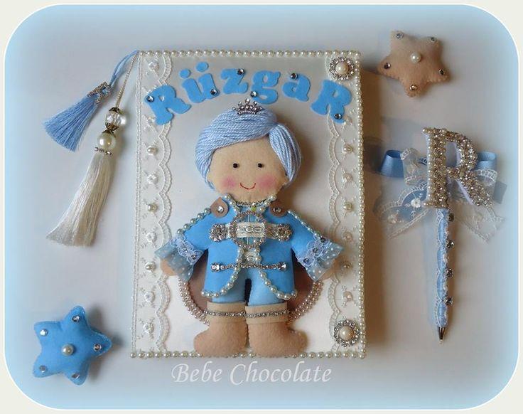 felt price, keçe prens bebek anı defteri, felt prince pattern, note book, handmade prince