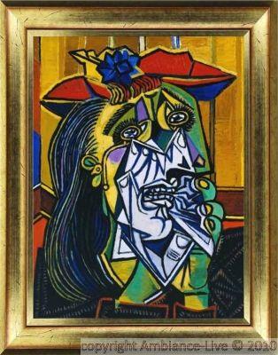 Sticker tableau Picasso – Femme qui pleure - stickers Art et Design Artistiques - ambiance-sticker