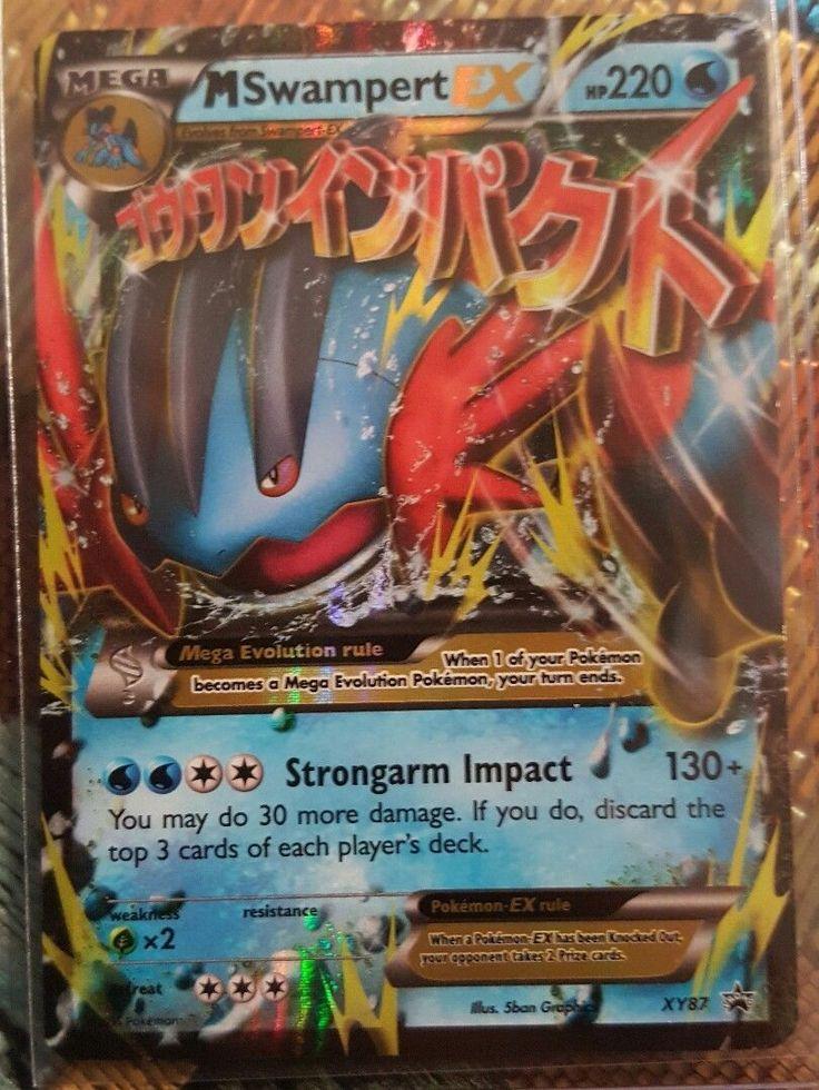 Pokemon Trading card: Mega M SWAMPERT EX XY87 Promo Holo Ultra Rare NM