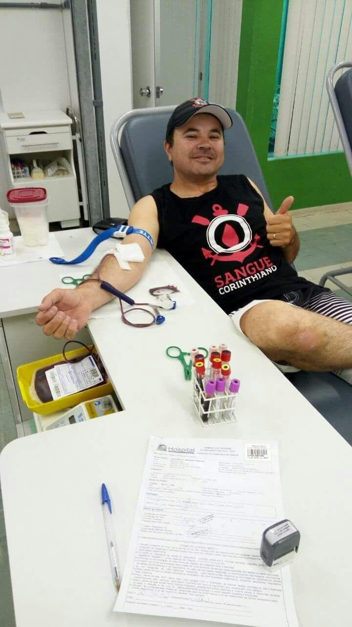 """""""Sangue Corinthiano"""" realiza semana de doação em Bragança Paulista, SP #globoesporte"""