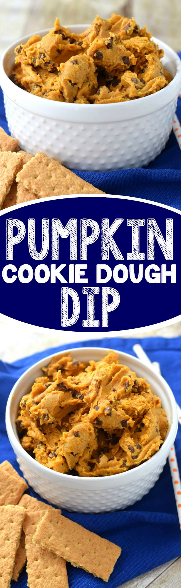 This Pumpkin Cookie Dough Dip is the real deal!  Egg free, pumpkinrific, and totally delicious!:
