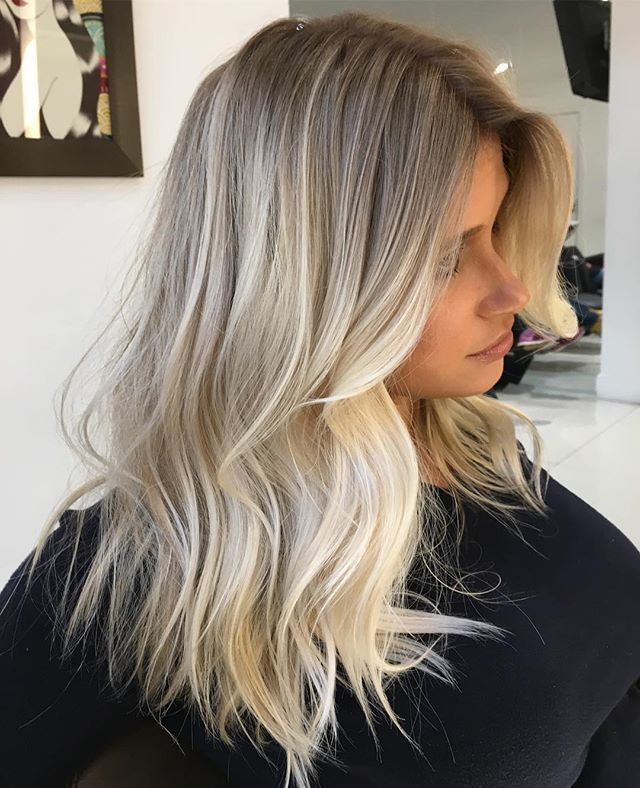 Blonde Pérola #mechascriativas #romeufelipe #equipe #blondehair