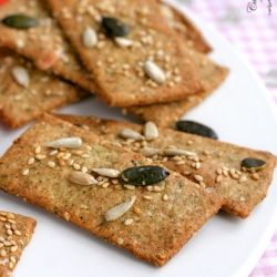 "Multi- seed Savoury Crackers from ""The Great British Bake off""  (in Polish- translator in the sidebar)"