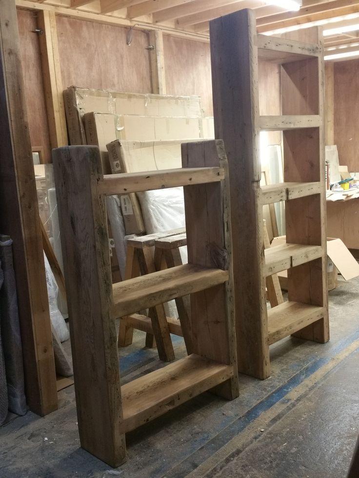 Reclaimed pine bookshelves