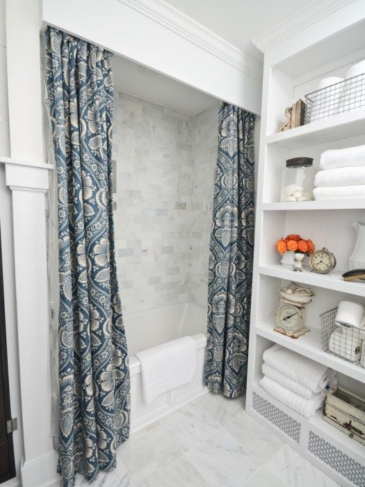 What To Do With The Guest Bath Built In Valance Above The Shower Curtain Rod Yes Rooms