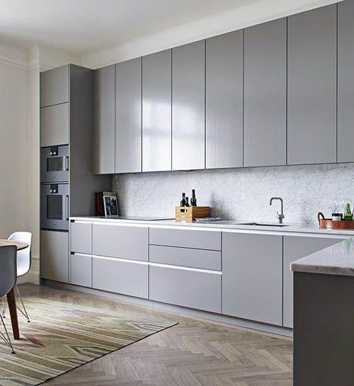 Кухни серого цвета в стиле модерн.
