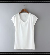 Latest Casual Dress Design Ladies Organic Cotton White T-Shirts best buy follow this link http://shopingayo.space