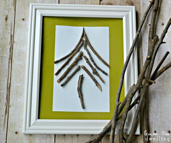 how to make white twig tree