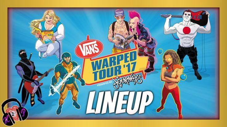 OFFICIAL 2017 VANS WARPED TOUR LINEUP!