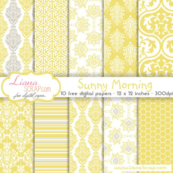 Free digital paper pack – Sunny Morning Set - http://www.lianascrap.com/free-digital-paper-pack-sunny-morning-set/