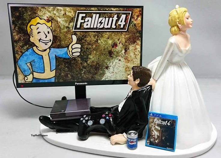 Fallout Wedding Cake Topper Pipboy Xbox One/PS4/PC by TopShelfToppers on Etsy