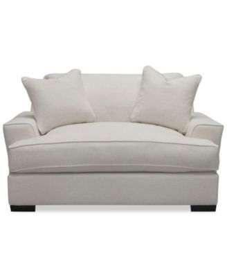 Ainsley Oversized Chair w/ 2 Throw Pillows, Only at Macy's | macys.com