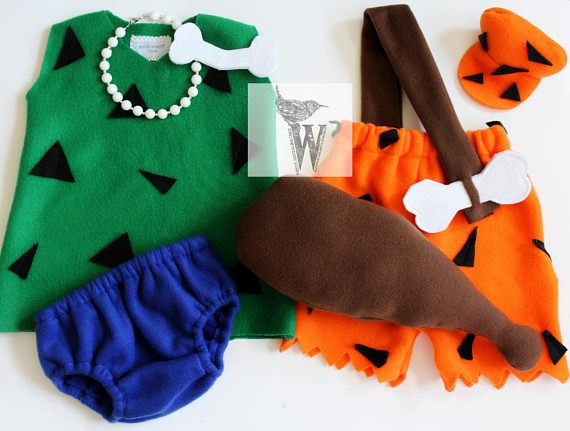 Theres nothing like the classics! The cartoon first aired on Sept 11, 1971 and every year its my leading costume for siblings. Bam Bam- Comes with a soft bat, shorts, clip on OR elastic hat and a sash with a bone. Pebbles- Comes with a top, bloomers OR shorts and a bone hair clip. Add on a matching pebbles necklace at check out to complete this ensemble! Our fabric selection for these adorable costumes is a non shedding fleece. All of our fabrics have been pre-shrunk before construction in…